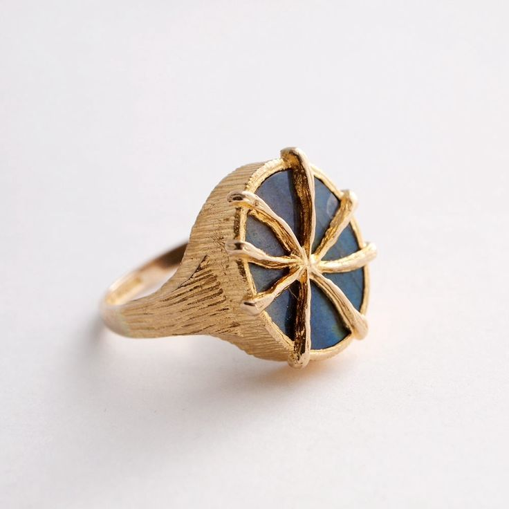 Juhani Linnovaara for Lapponia Jewelry ~Vintage gold ring, 1978.