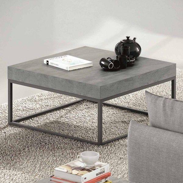 Une table basse effet béton pour un look industriel  http://www.homelisty.com/table-basse-industrielle/