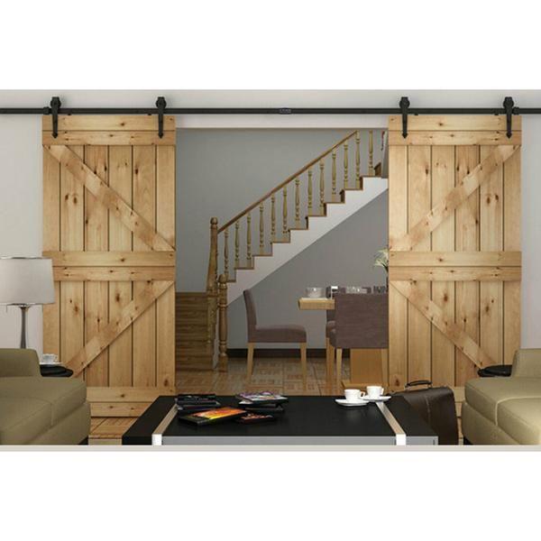 10ft Sliding Double Barn Wood Door Hardware Kit Arrow Sliding Door Hardware Double Sliding Barn Doors Double Barn Doors