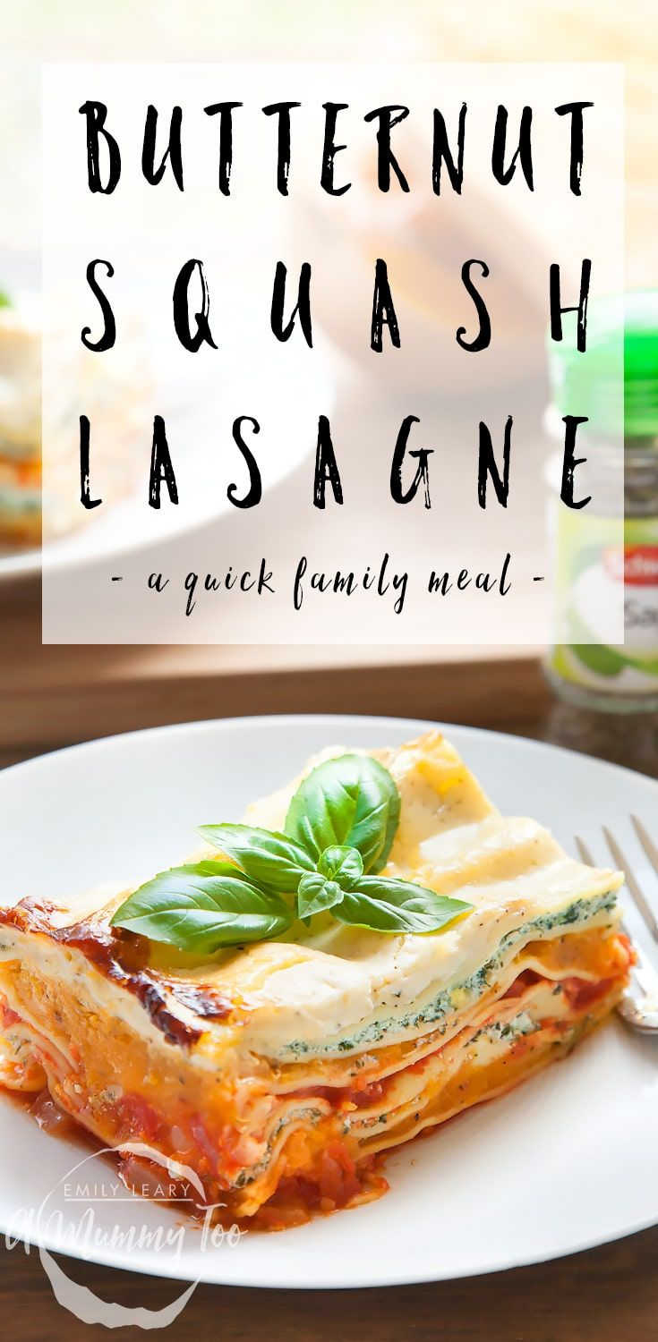 With butternut squash readily available and autumn gently approaching, what could be better than a hearty pasta dish? This lasagne is full of flavour and totally delicious.