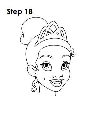 Princess Jasmine Face Drawing