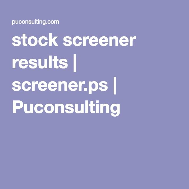 Day trading stock screener strategy