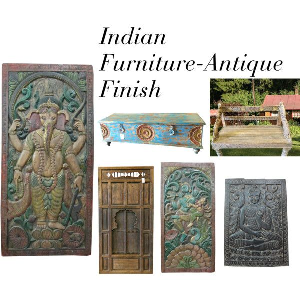 Indian Furniture Antique Finish By Etsy Com On Polyvore Featuring Interior Interiors
