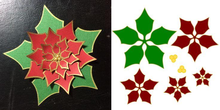 Krafty Nook Poinsettia Svg Diy Arts And Crafts