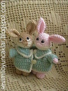 Amigurumi Valentine Bunnies Pattern pattern by Denizmum