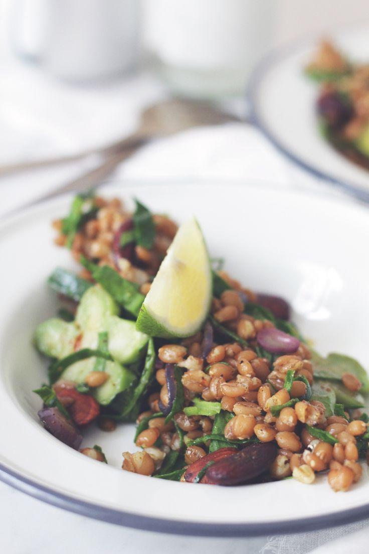 Marokkaanse salade met het graan farro #AfvallenUtrecht #Gewichtsconsulent_LeidscheRijn