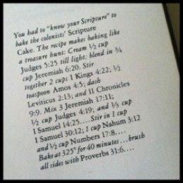 Scripture Cake Recipes