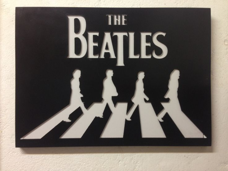 The Beatles Abbey Road MDF, laser cut