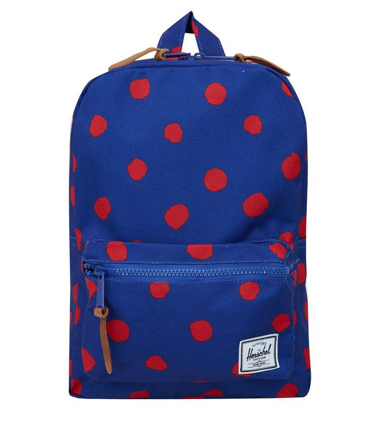 Herschel Supply Kids Navy Settlement Polka Dot Backpack | Kids | Liberty.co.uk
