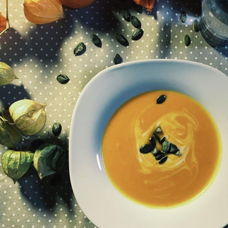 Kürbis-Süßkartoffelsuppe vegan+glutenfrei