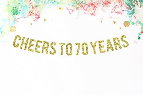 70 Year Wedding Anniversary Gifts: Cheers To 70 Years Banner