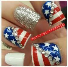 fourth of july rhinestone nail designs - Google Search