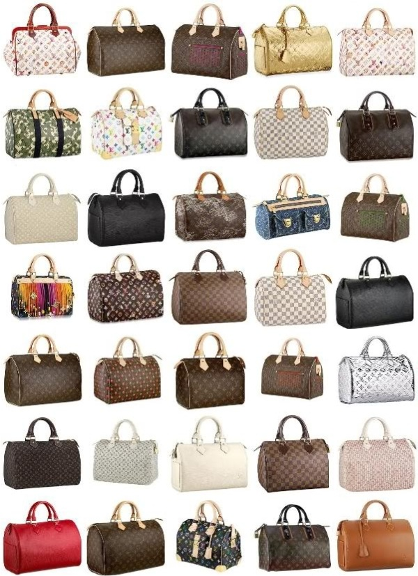 Louis Vuitton....hmmm which one wants to be added to my collection next. The world of Speedy.