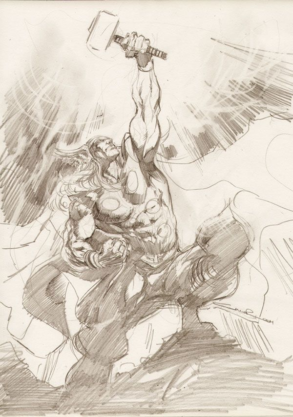Thor sketch by Cinar on deviantART