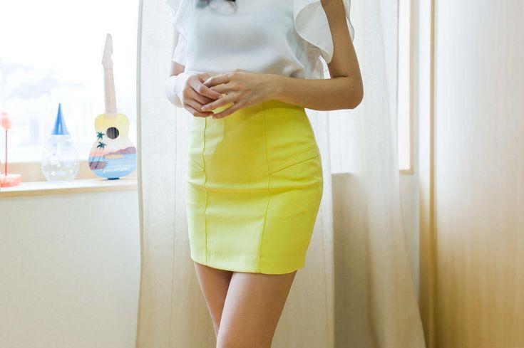 high waist slim skirt from Kakuu Basic. Saved to Kakuu Basic Skirts. Shop more products from Kakuu Basic on Wanelo.