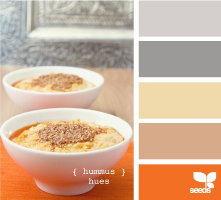 orange and grayBathroom Colors, Kitchens Colors, Living Room Colors, Design Seeds, Colors Palettes, Colors Schemes, Accent Colors, Hummus Hues, Colors Inspiration