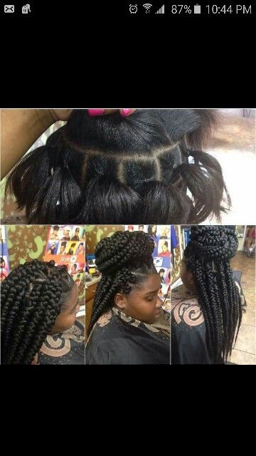 Rubber band method for box braids
