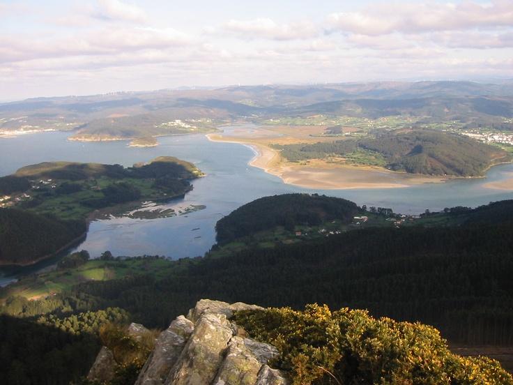Hermosa vista desde el mirador de A Miranda. Cariño (A Coruña)