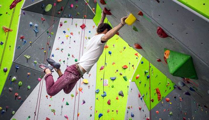 Spooky Nook Sports provides a professional-grade indoor sports adventure course featuring a rock climbing wall and clip 'n climb.