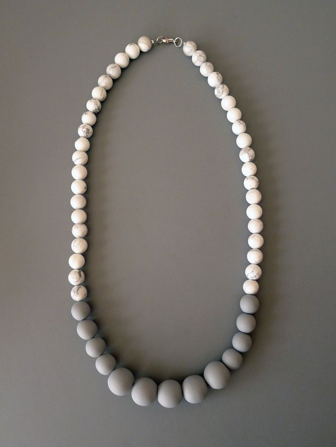 DIY wood bead necklace                                                                                                                                                                                 More