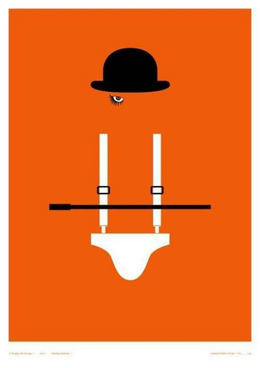 A Clockwork Orange minimalist poster | Minimalist Movie ... A Clockwork Orange Minimalist Poster