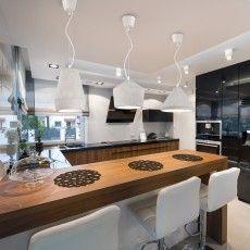 Set of three design concrete lamps in a luxury kitchen Corner 1, 2, 3 Designed by Finnish designer Matti Syrjälä| Sessak