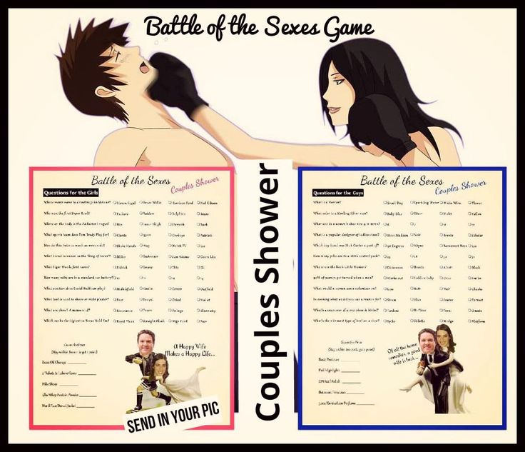 Battle of the Sexes-Couple Shower Game-Trivia by 31Flavorsofdesign