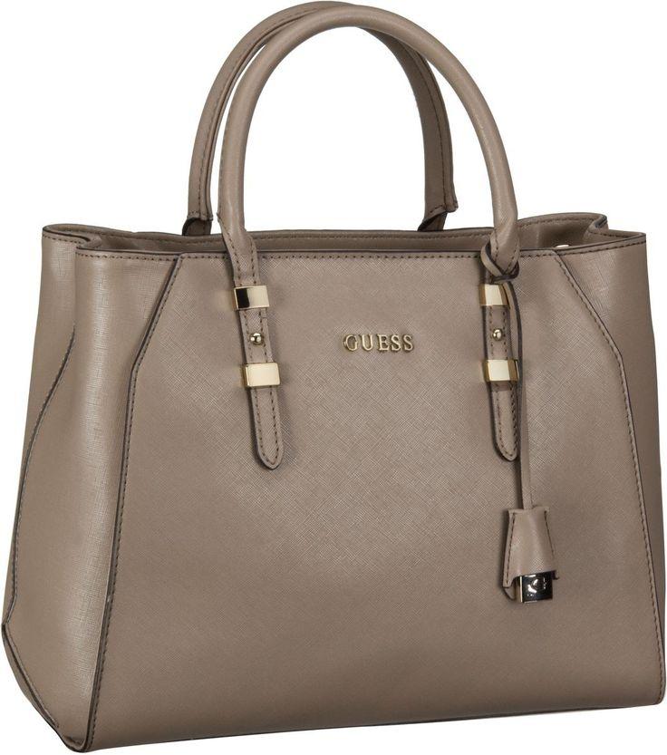 Guess Gigi Satchel Taupe - Handtasche