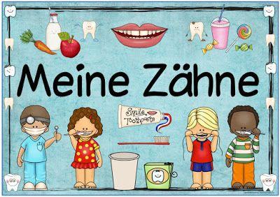 """Sachunterricht in der Grundschule: Themenplakat """"Meine Zähne"""""""