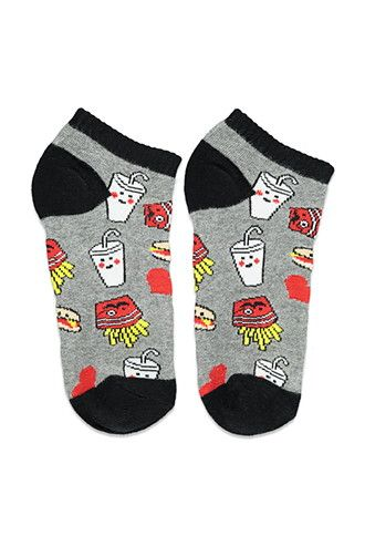 Burger and Fries Socks | Forever 21 - 2000156026 { Follow me @slayingchxndria }