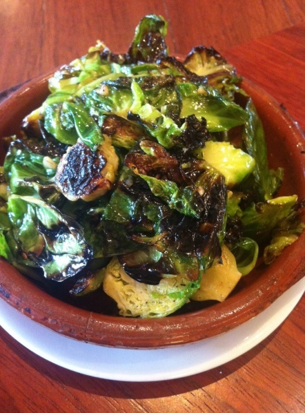Brussel Sprouts with pancetta, yum yum!