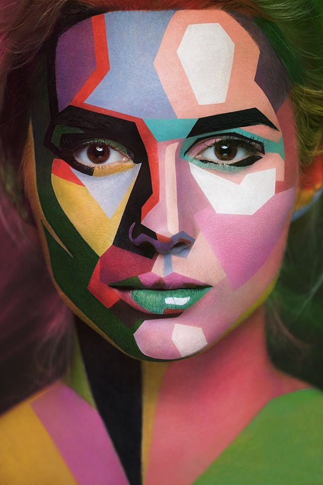2D or not 2D series by photographer Alexander Khokhlov's with make-up artist Valeriya Kutsan
