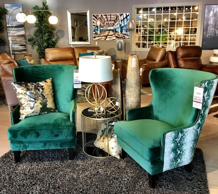 Emerald Python chairs... yes please!  Express yourself with custom occasional chairs from Sofa Land. #twinning #madeincanada