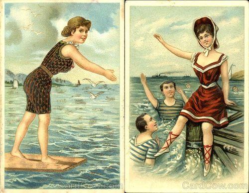 """Красный купальник, безусловно, во все времена выделял его обладательницу на пляже Клуб исторического танца """"Старый город"""", Саратов"""