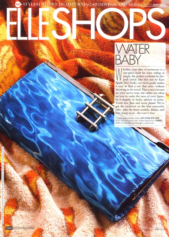 #dresscolorfully ksny patent leather pool clutch