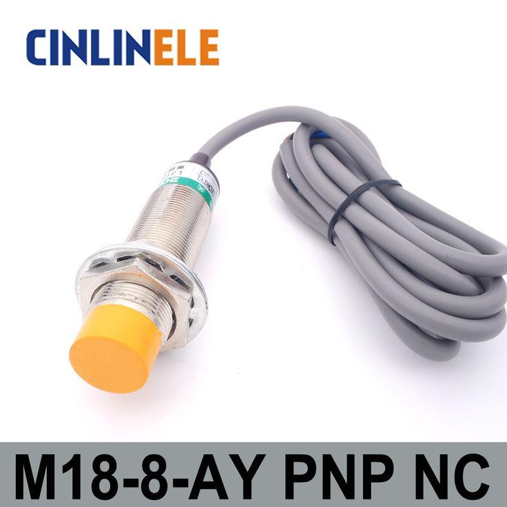 M18 LJ18A3-8-Z/AY 8mm induction DC PNP NC metal sensor inductive proximity switch Screen shield type LJ8A3 sensor switch