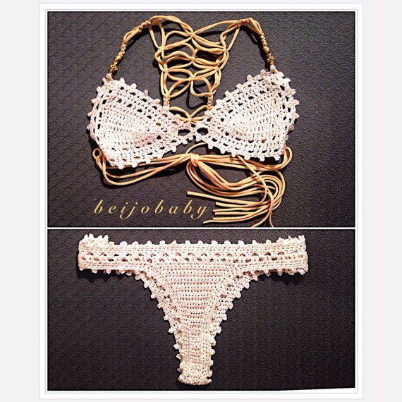 polvo de oro bikini por beijobaby en Etsy