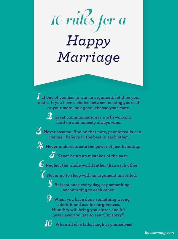 These are good to remember in any relationship, but especially marriage!
