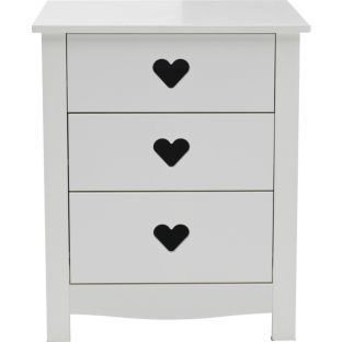 Buy Mia 3 Drawer Bedside Chest - White at Argos.co.uk - Your Online Shop for Children's bedside cabinets #ArgosRoomInspiration