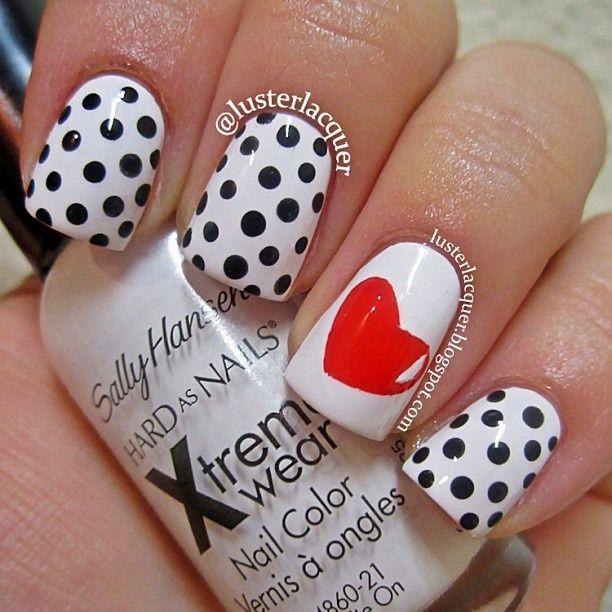 Black white nails