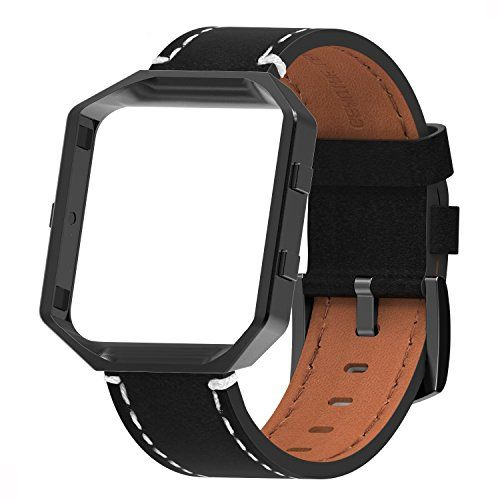 Henoda for Fitbit Blaze Bands Leather Small Large Strap Smart Fitness Watch Band Women Men