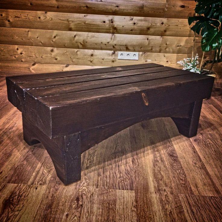 Купить Журнальный столик из массива сосны - стол, столик, гостинная, спальня, лофт, массив дерева