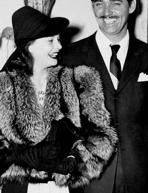 Vivien Leigh and Clark Gable, 1939.