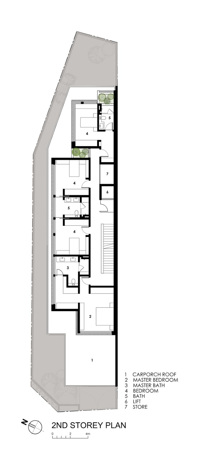 Best 25 narrow house plans ideas on pinterest narrow for Modern architecture plans