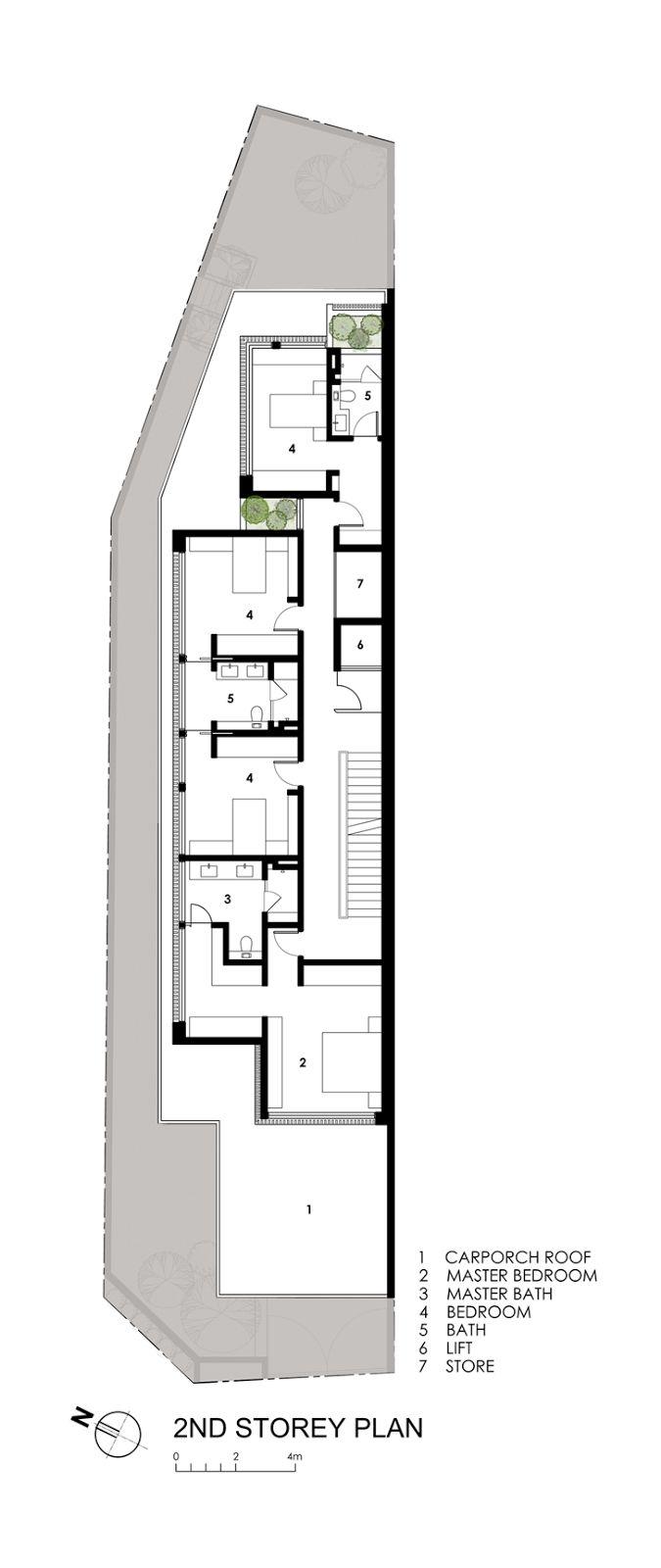 Best 25 Narrow House Plans Ideas On Pinterest Small Open Floor