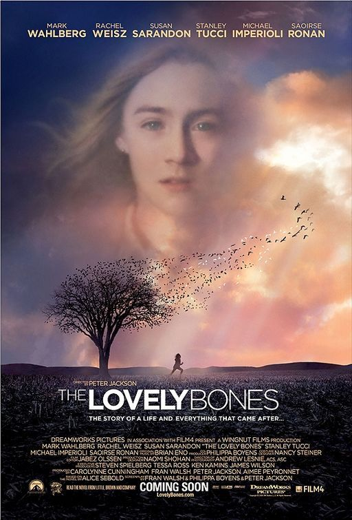 The Lovely Bones Movie 2009, watched June 2013.  I think they did a decent job adapting the book to film.  I was on the edge of my seat even though I knew the ending.