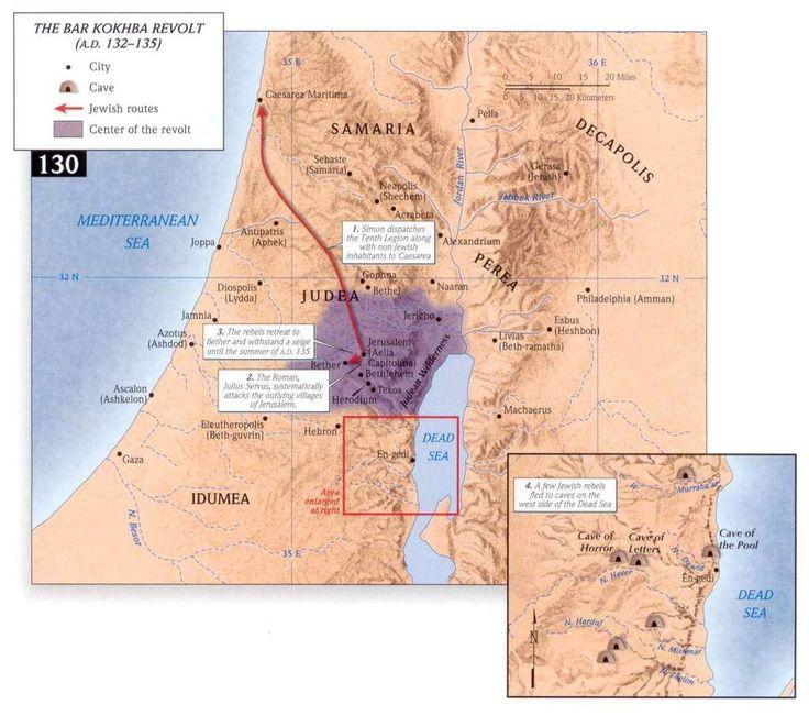 Maps- The Bar Kokhba Revolt, 132-135 CE