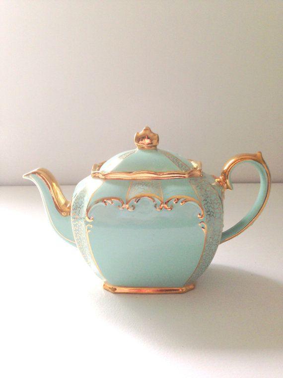 Vintage English Sadler Bone China 6 Cup by MariasFarmhouse on Etsy, $110.00