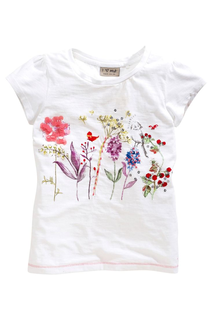 Buy White Stem Flowers Tee (3-16yrs) from the Next UK online shop