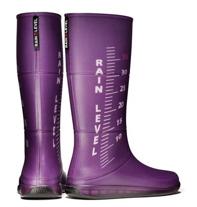 Purple rain level rain boots....not a ridiculous idea with all these strange storms happening......